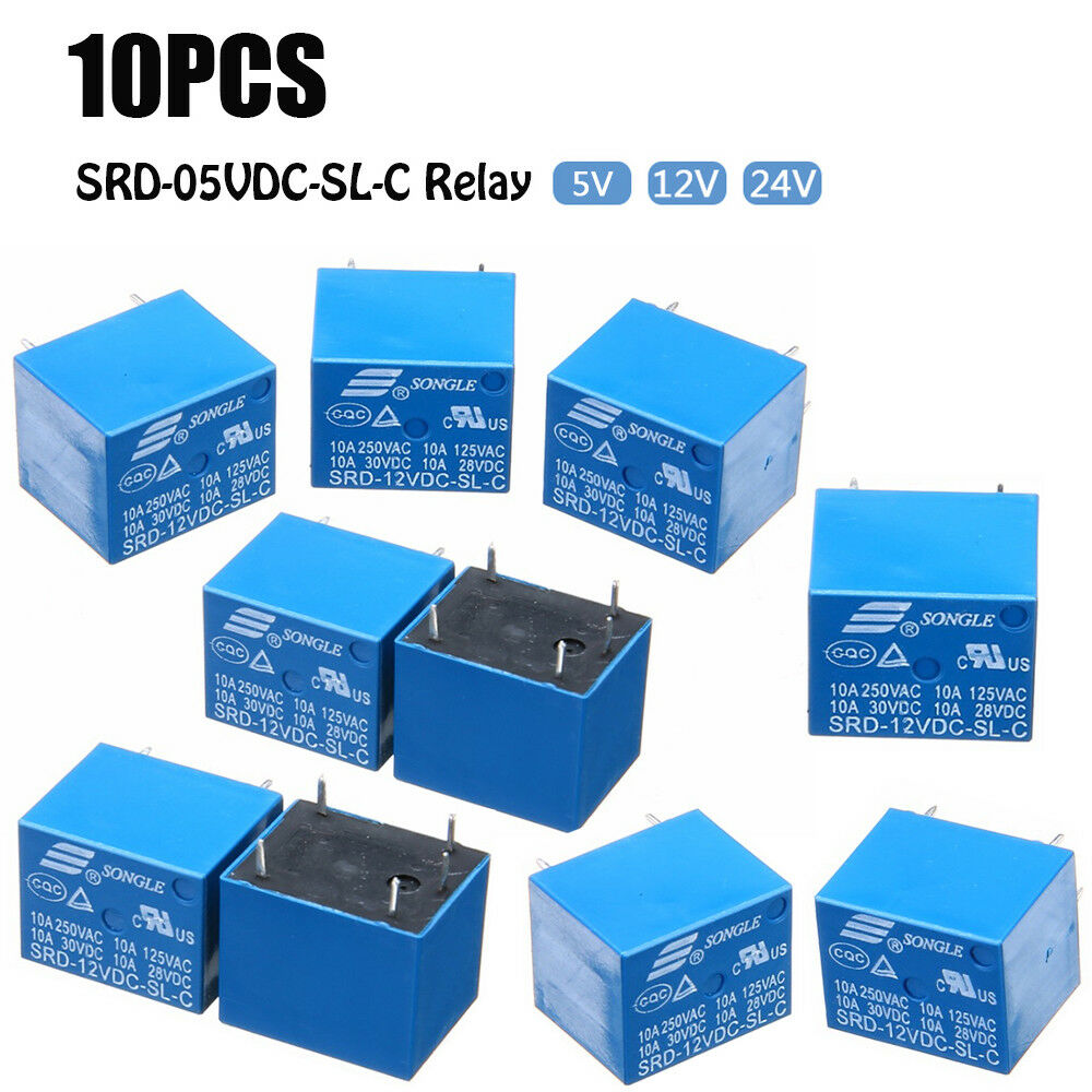 10 PCS 5V-24V 10A SRD-12VDC-SL-C Type Mini 5 1 of 12FREE Shipping See More