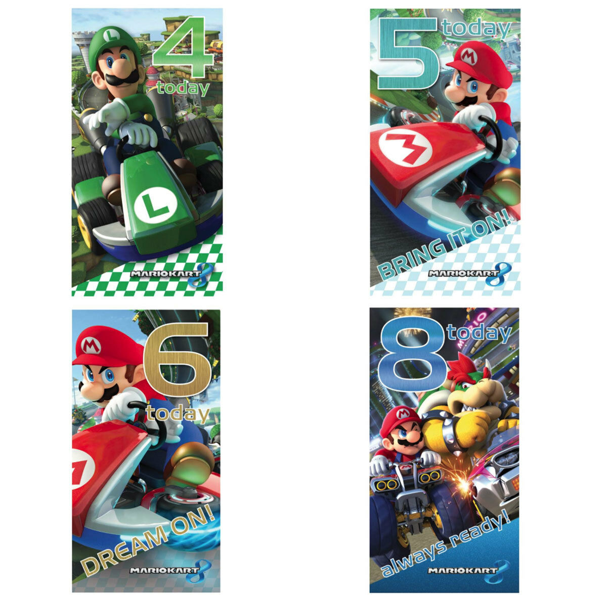 SUPER MARIO KART Birthday Cards (Assorted)i - £1.99 | PicClick UK