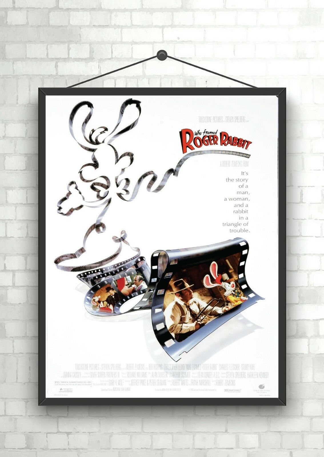 WHO FRAMED ROGER Rabbit Classic Movie Poster Art Print A0 A1 A2 A3 ...