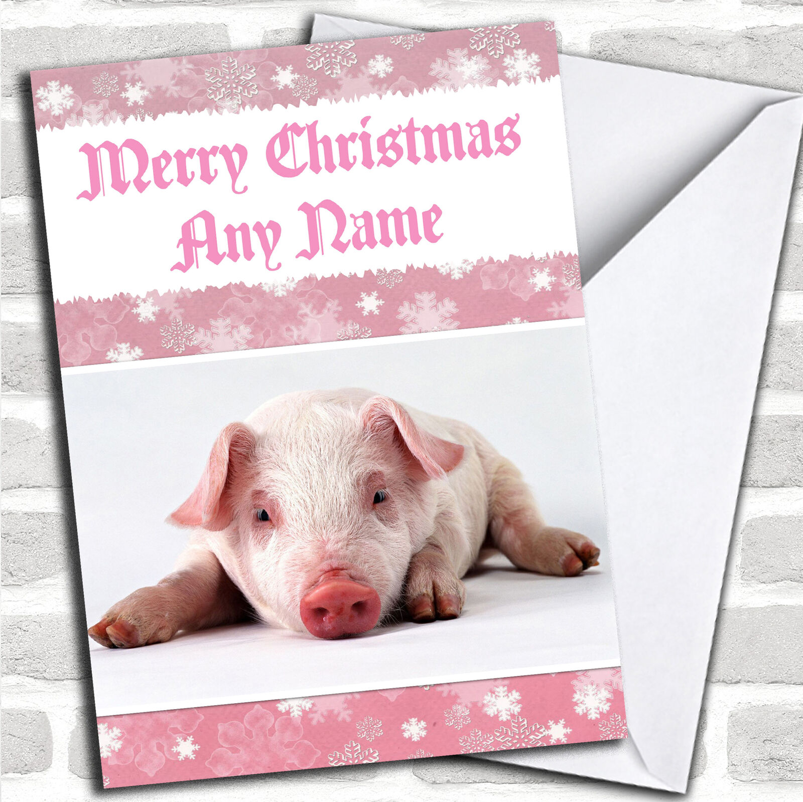 PIG PERSONALIZED CHRISTMAS Card - $6.59   PicClick