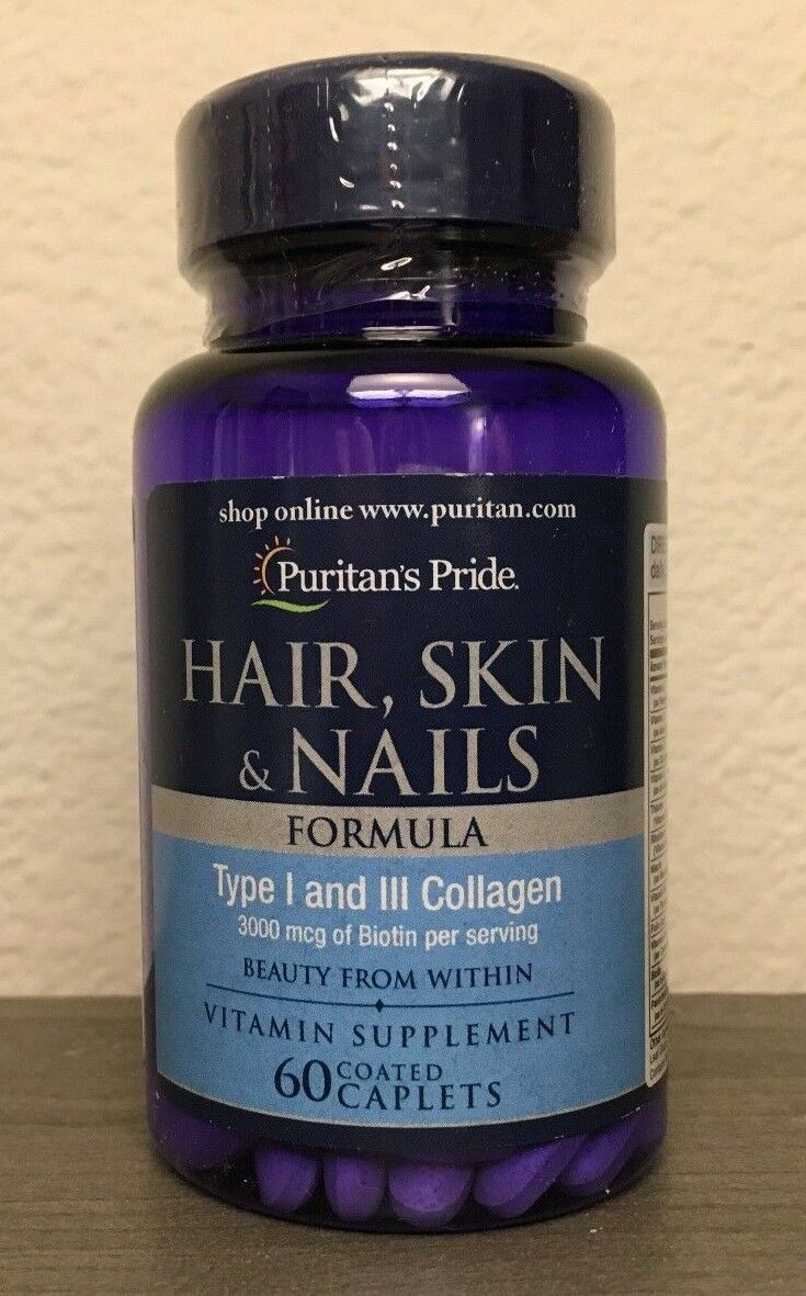 Hair Skin Nails Formula 3000 Mcg Biotin Vitamin Supplement 60 Caps 1 Of 3only Available