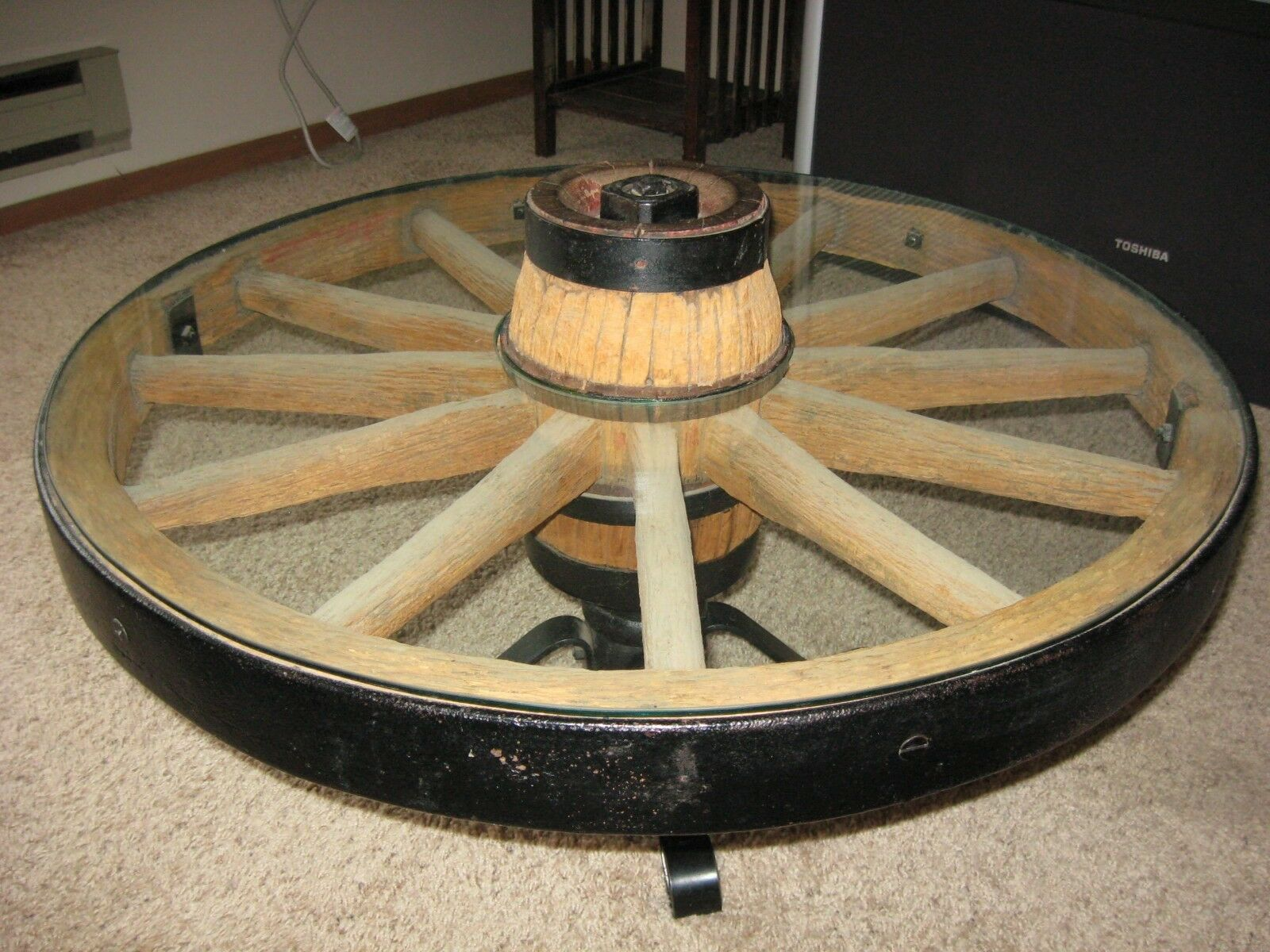 Antique Wagon Wheel Coffee Table 1 Of 6 ...