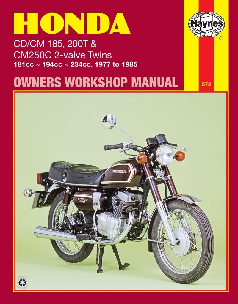 0572 Haynes Honda CD/CM185 200T & CM250C 2-valve Twins (1977 - 1 of 1FREE  Shipping See More