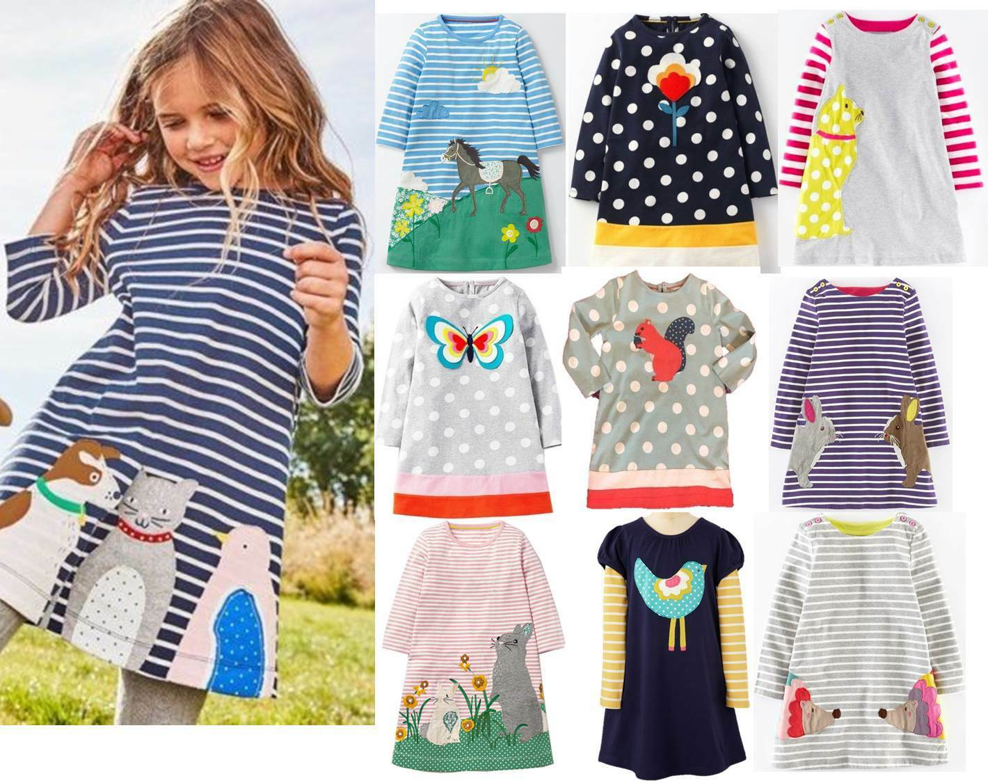 Mini boden girls applique jersey dress tunic butterfly for Mini boden germany