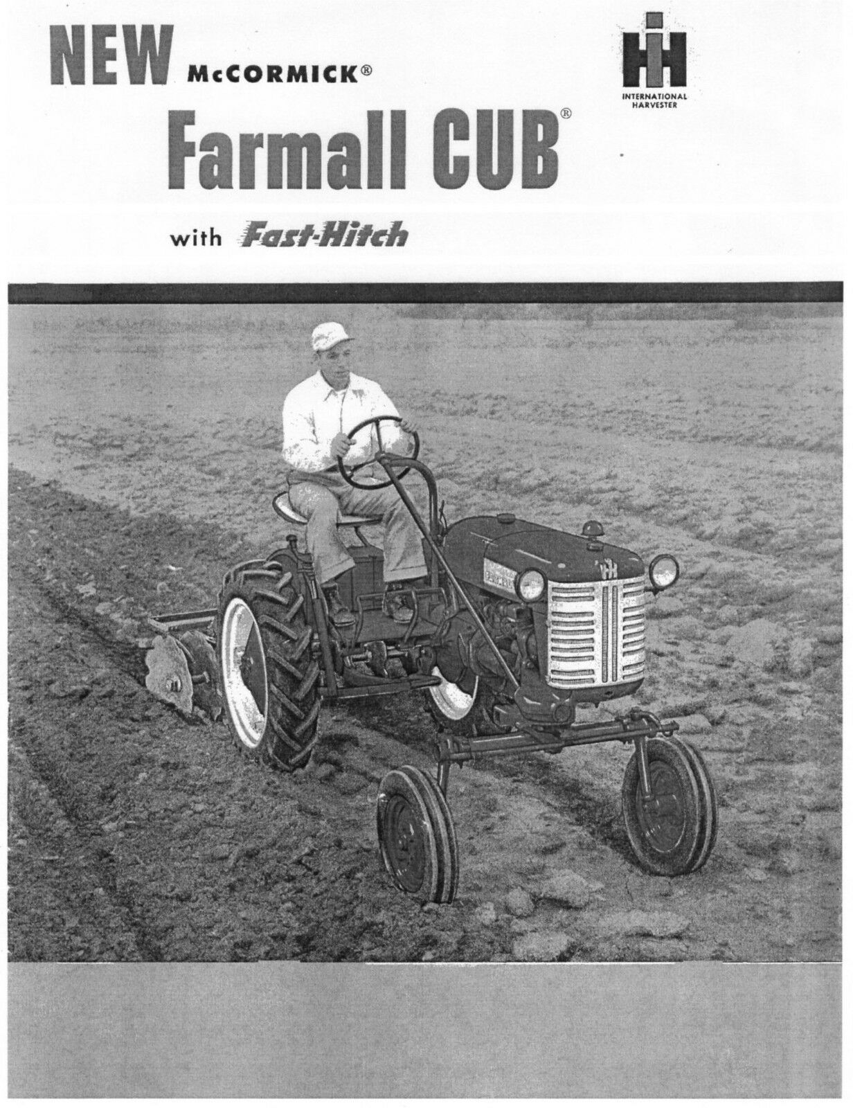 FARMALL CUB with Fast Hitch Sales Brochure manual 1 of 4FREE Shipping ...
