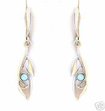 STERLING SILVER 925 EARRINGS WITH GOLD 9K & OPALS