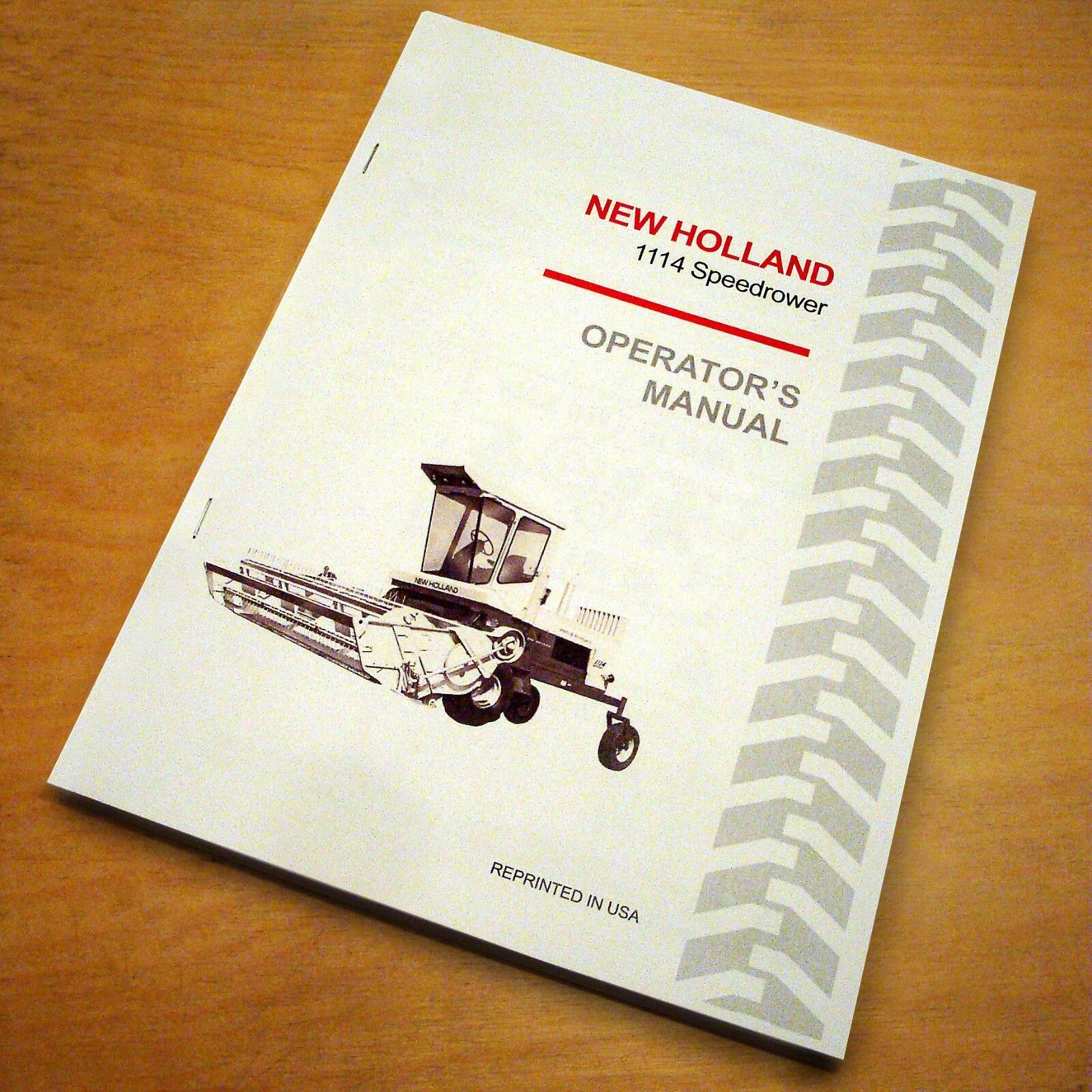 New Holland 1114 SpeedRower Swather Operator's Owners Book Guide Manual NH  1 of 5FREE Shipping ...