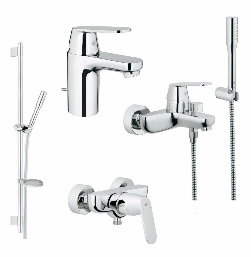 grohe eurosmart cosmopolitan set waschtisch wannen und brausebatterie chrom eur 309 00. Black Bedroom Furniture Sets. Home Design Ideas