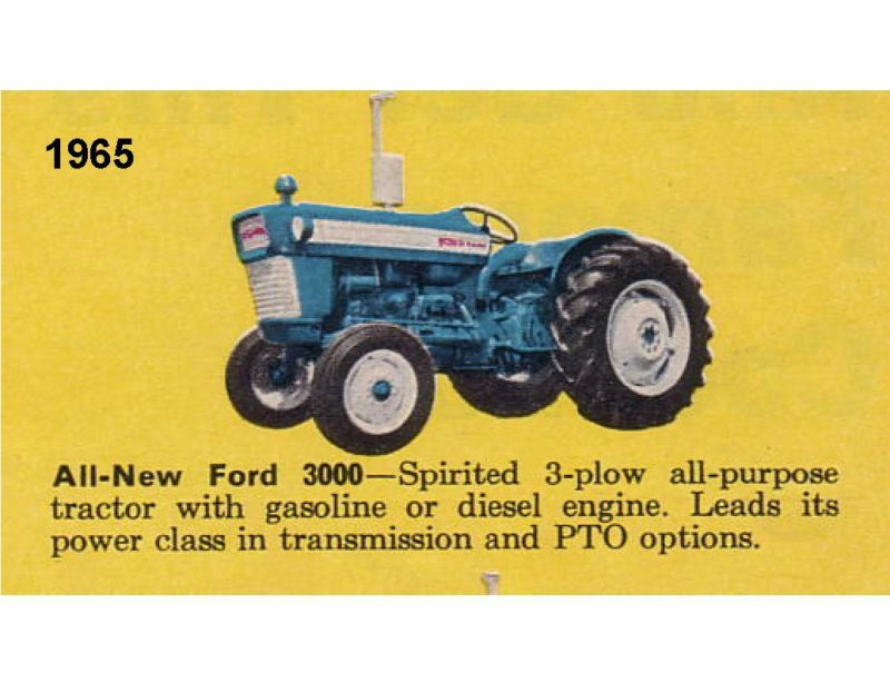 1965 Ford 3000 Tractor : Ford tractor refrigerator magnet eur