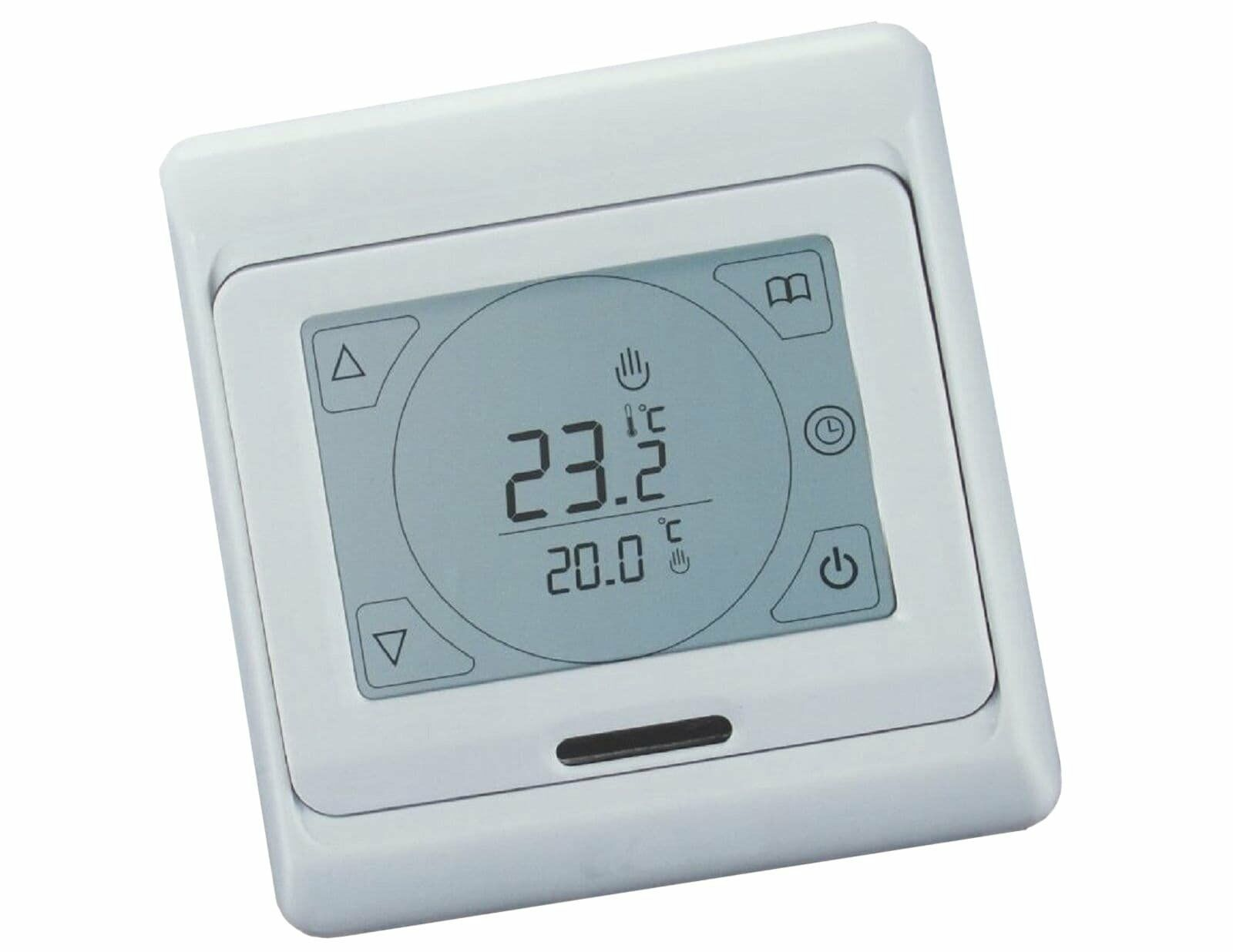 digital raumthermostat touchscreen fu bodenheizung b695. Black Bedroom Furniture Sets. Home Design Ideas