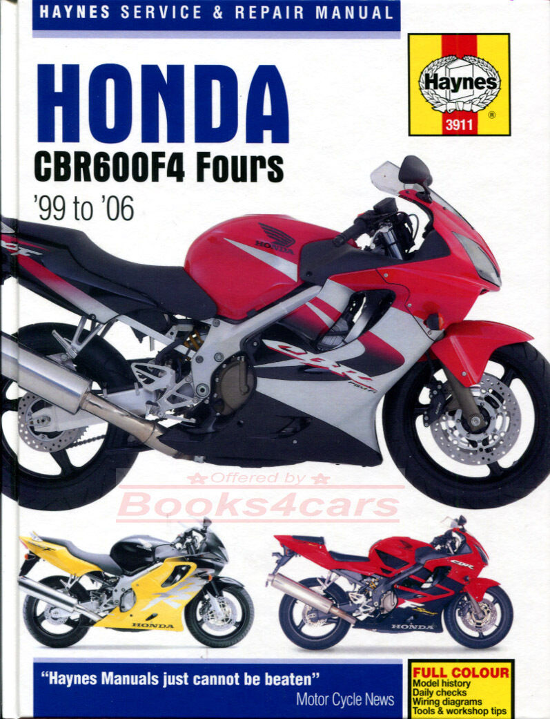 Shop Manual Cbr600F4 Service Repair Honda Haynes Book Clymer Cbr 600 F4 1  of 1Only 5 available ...