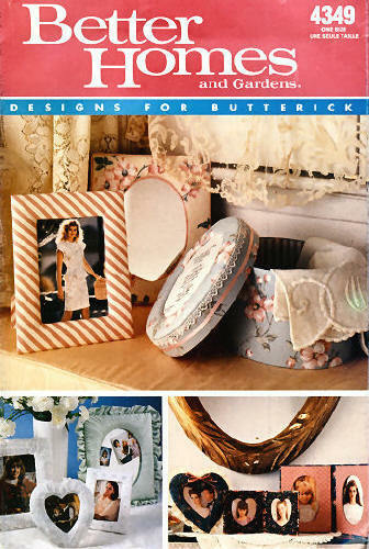 Butterick 4349 Better Homes Gardens Frames Designs Package Pattern Eur 627