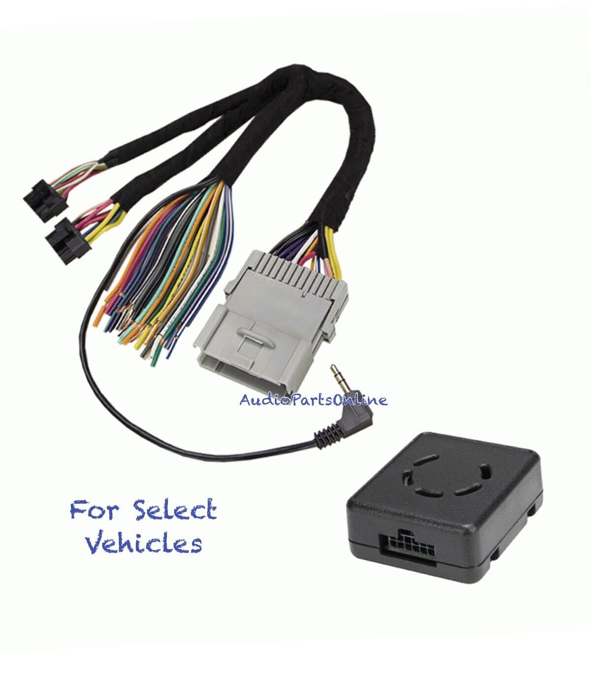 Amp/Bose/No Bose/Chimes Car Stereo Wire Harness Adapter Interface for select