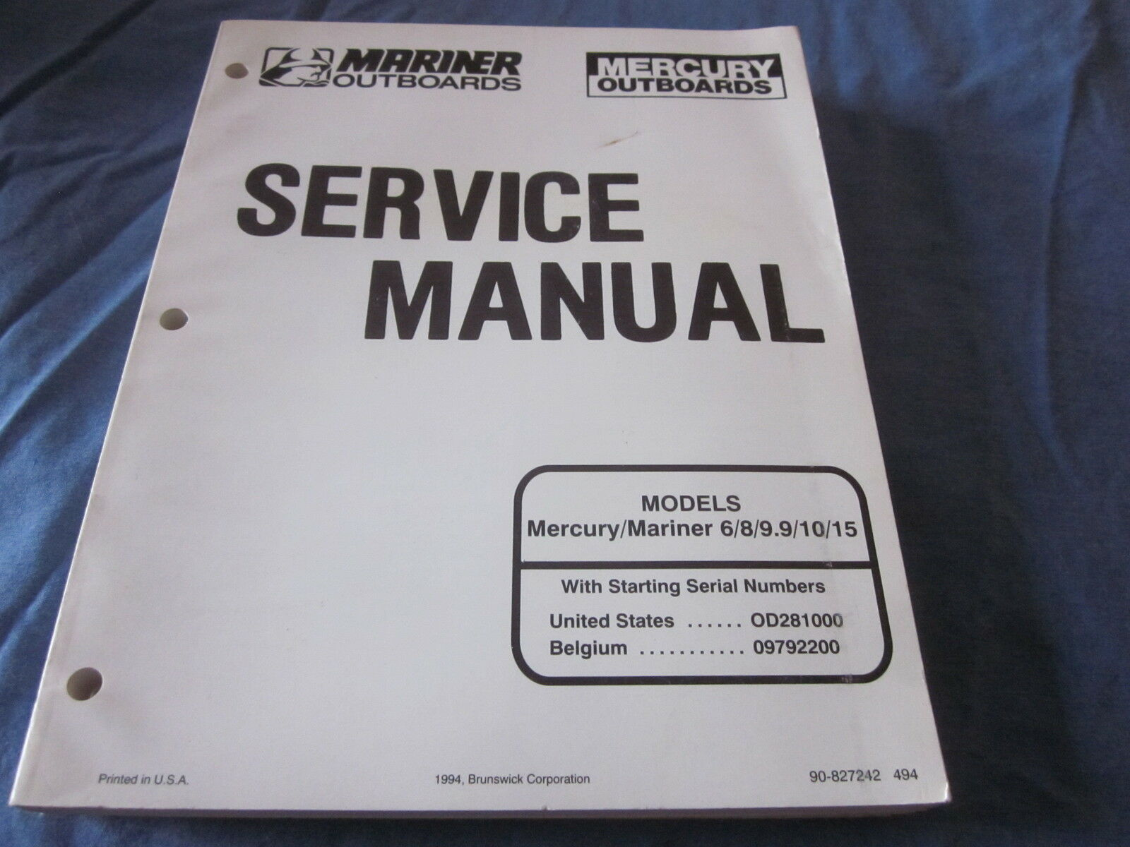 Mercury Mariner 6 8 9.9 10 15 Hp Factory Oem Service Manual Shop New 1 of  1Only 1 available ...