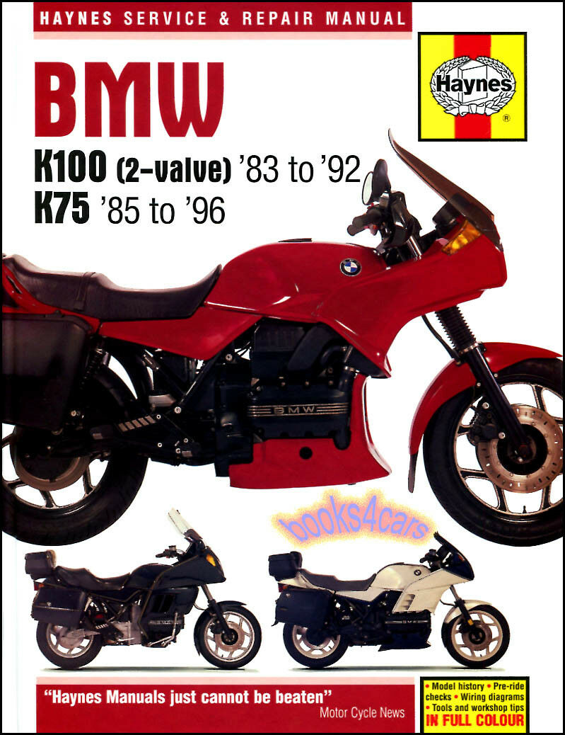 Bmw Shop Manual K100 K75 Service Repair Book Haynes Clymer Chilton Guide 1  of 1FREE Shipping ...