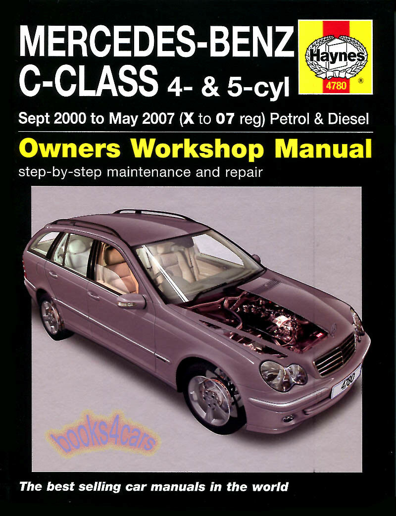 Shop Manual Mercedes C Class Service Repair Haynes C180 C220 C270 1 of  1FREE Shipping ...