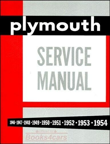 Plymouth Shop Manual Service Repair Book Restoration Guide 1 of 1FREE  Shipping ...