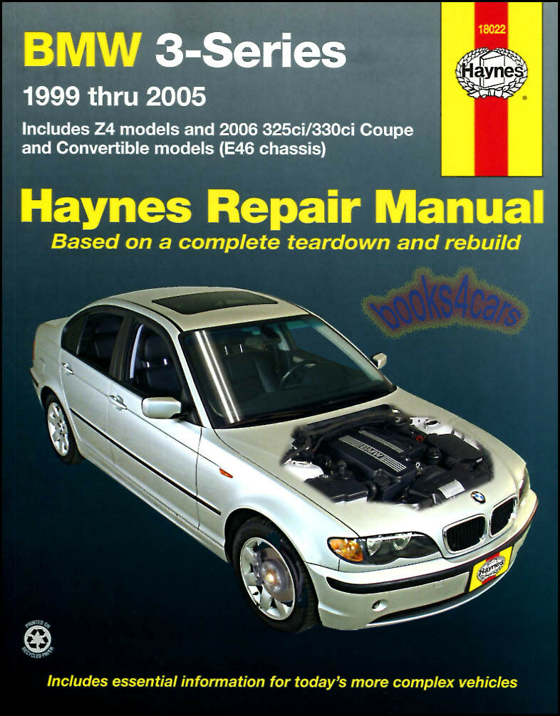 Bmw Shop Manual Service Repair Book E46 3-Series Z4 Haynes Chilton 1 of 1 FREE Shipping ...