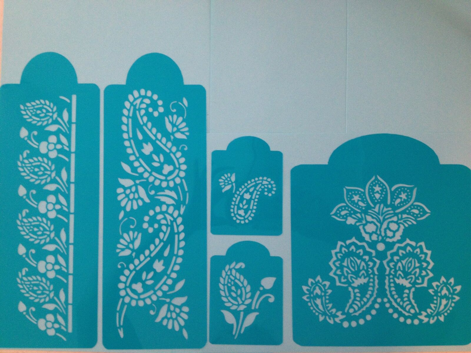 Mehndi Cake Stencil : Large mehndi tier cake stencils awesome set of pieces