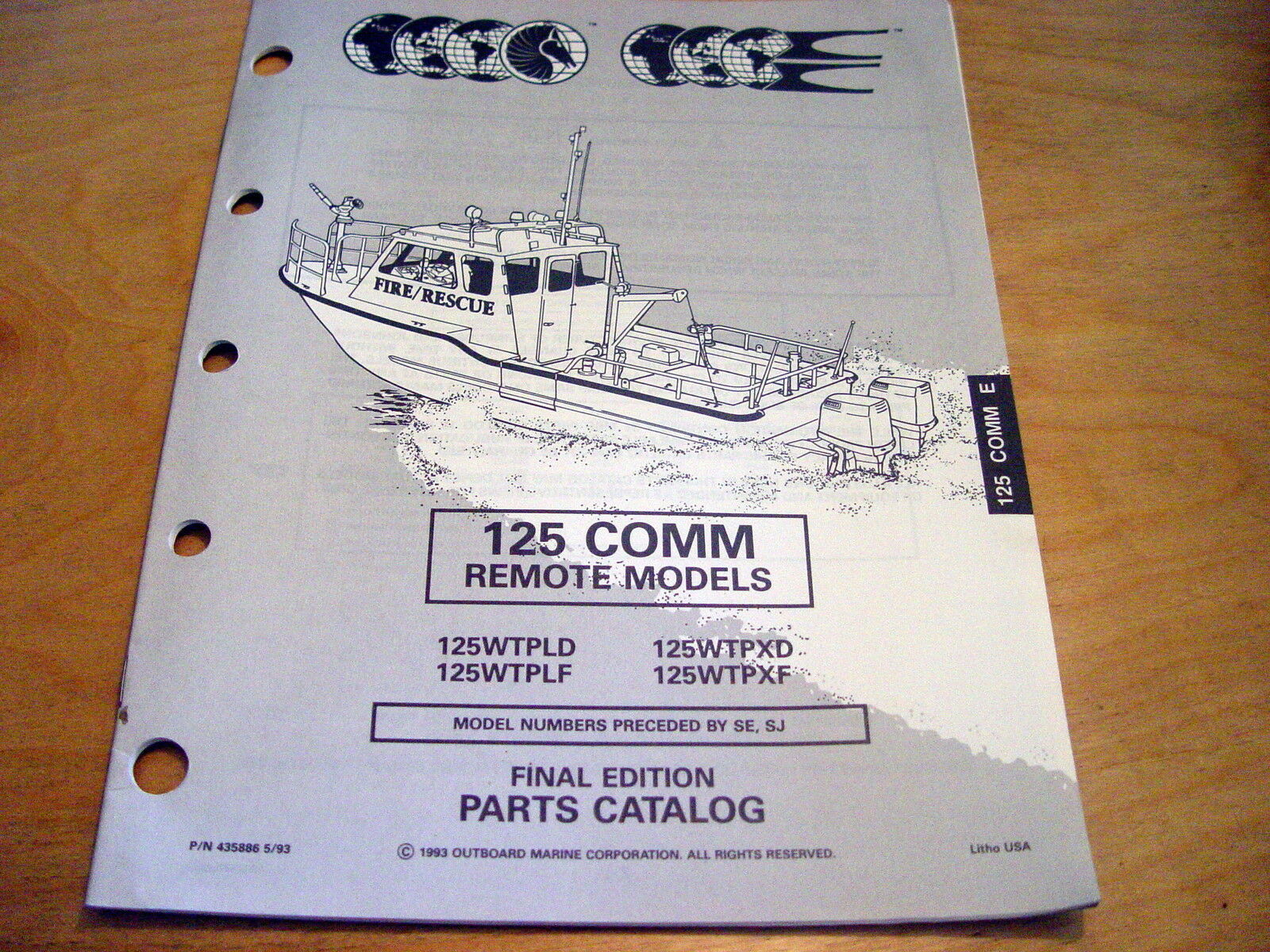 Evinrude Johnson 125 HP Commercial Parts Manual 1993 OMC Catalog Outboard Motor 1 of 1Only 1 available ...