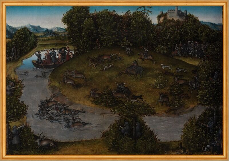 Stag Hunt of the Elector Frederic the Wise 1463-1525 of Saxony Jagd B A1 00118