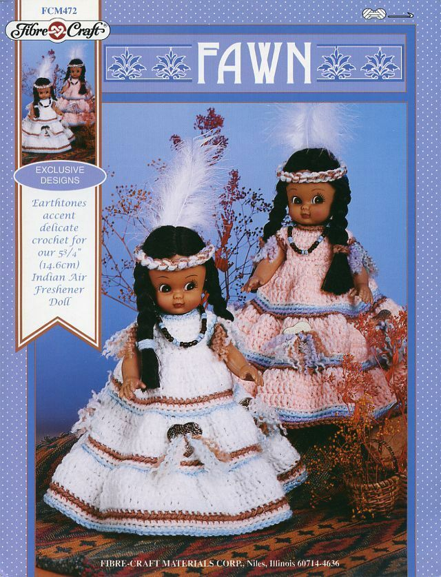 Fawn Indian Girl Doll Outfit Fibre Craft Fcm472 Crochet Pattern