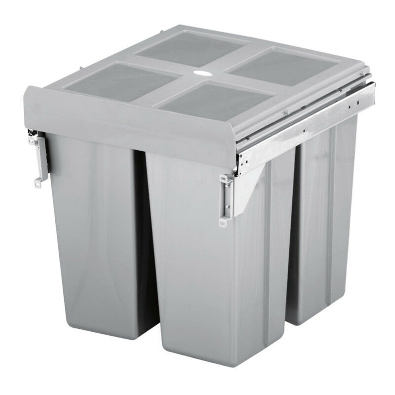 Pull Out Kitchen Cabinet Integrated Recycle Waste Bin 500mm 68 Ltr Front Fixing 1 Of 5free See More