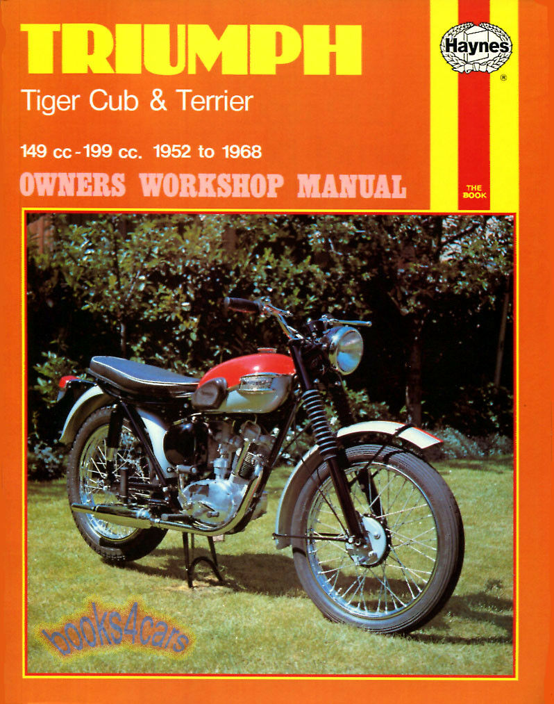 Shop Manual Triumph Service Repair Book Tiger Cub Terrier Motorcycle 1 of  1FREE Shipping ...