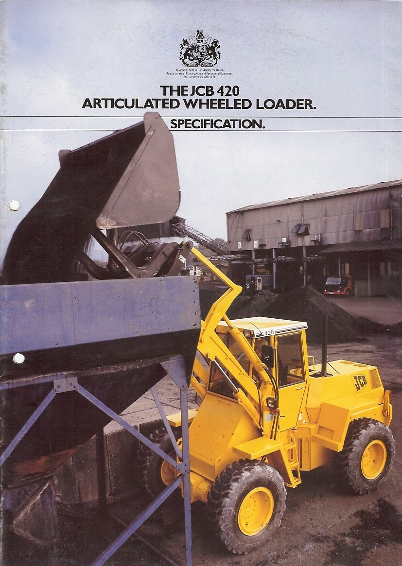 Equipment brochure jcb 420 wheel loader c1987 e1981 1 of 1only 1 available fandeluxe Image collections