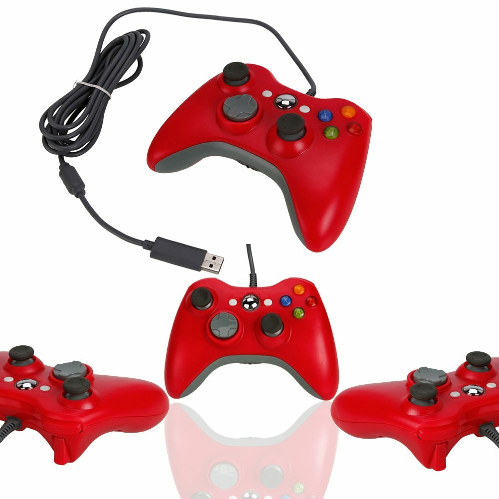 New Wired USB Game Pad Controller For Microsoft Xbox 360 Red Free ...