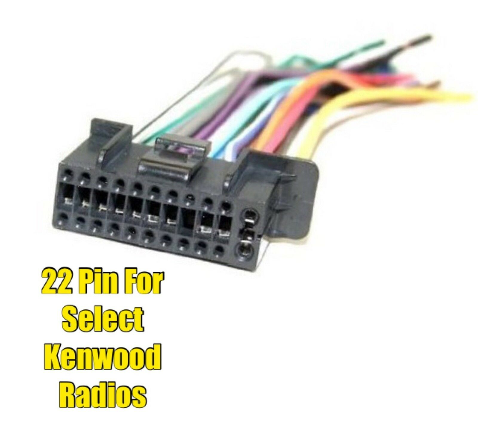 Car Stereo Radio Replacement Wire Harness Plug for select Kenwood 22 Pin  Radios