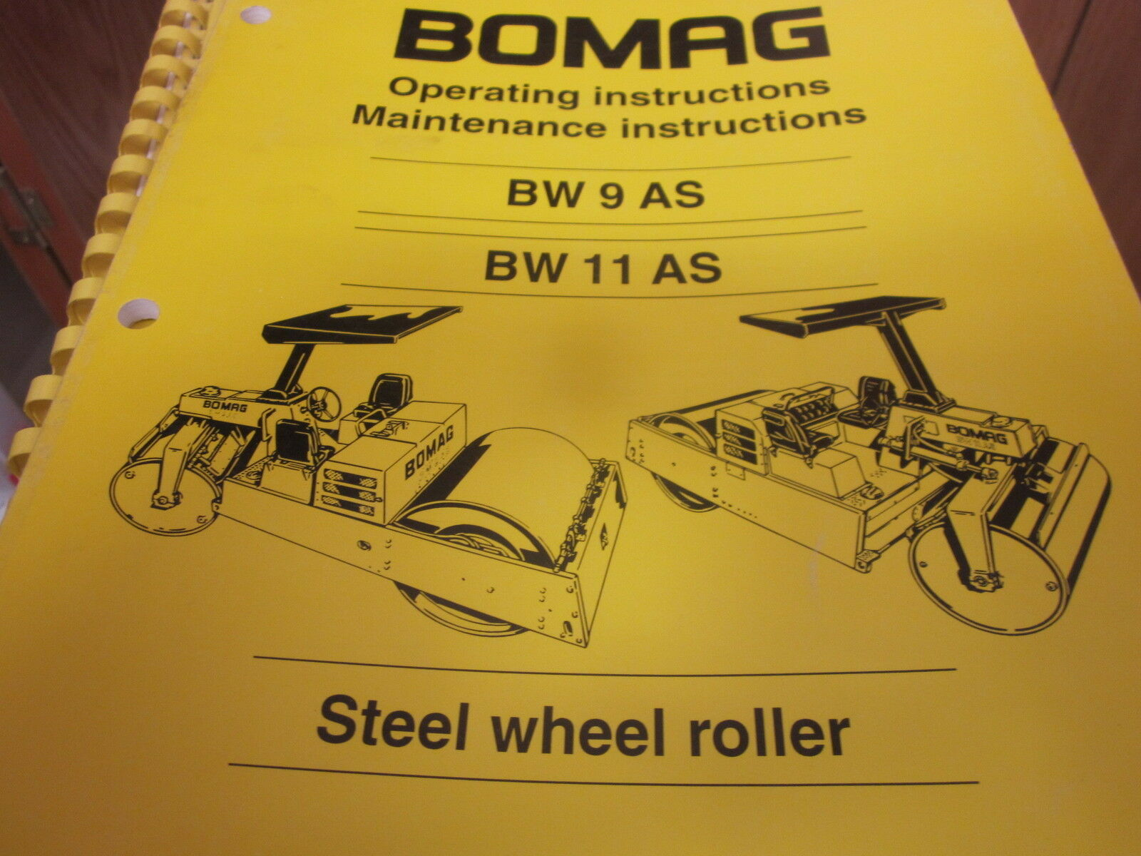 Bomag BW 9 AS BW 11 AS Steel Roller Operators Manual 1 of 1Only 1 available  ...