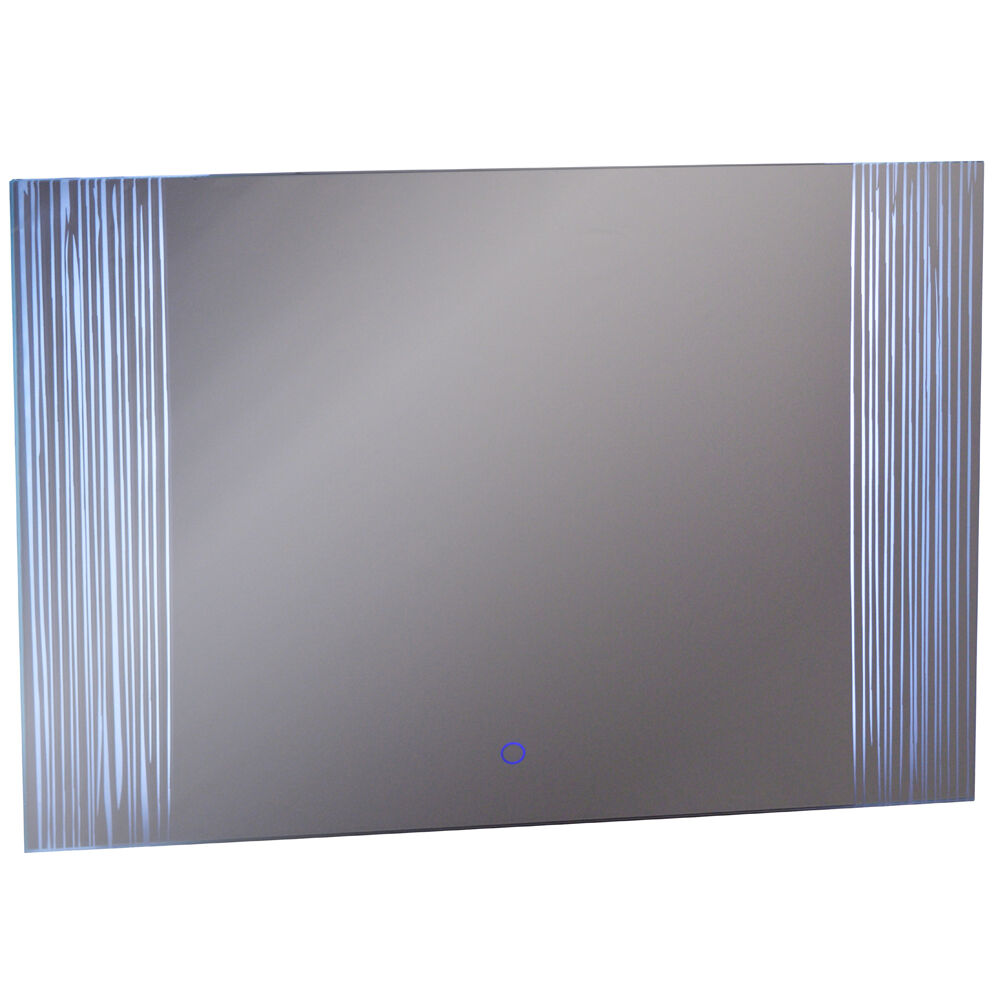 Led illuminated 600 x 800 wall mirror light with demister for Mirror 800 x 600