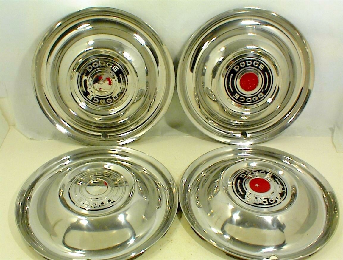 1951 1952 1953 Dodge Hubcaps 15 Wheel Covers 1324550 Set Of 4 1949 Chrysler Town And Country 1 11only Available
