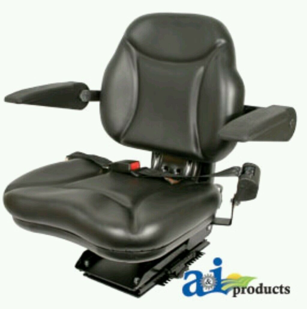 Tractor Seat Suspension Parts : Big boy suspension tractor seat with armrests black