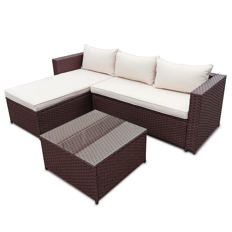 poly rattan garten lounge gartenset braun garnitur polyrattan gartenm bel set eur 237 92. Black Bedroom Furniture Sets. Home Design Ideas