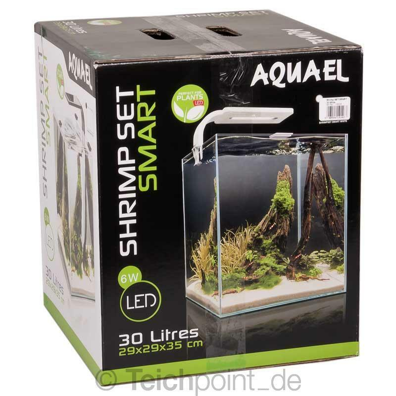 Aquael Aquarium Shrimp Set 30 SMART LED, weiß Nano komplett Set *NEU*