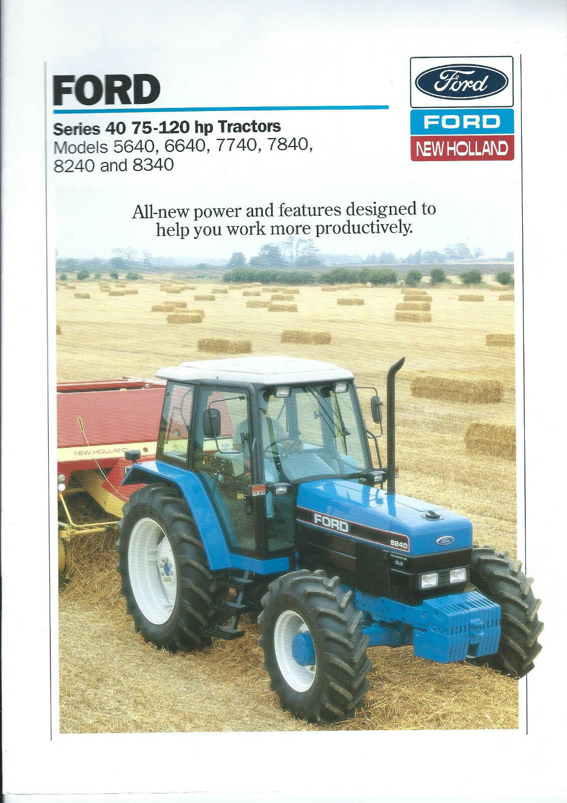 Farm Tractor Brochure - Ford - 5640 6640 7740 7840 8240 8340 Series 40  (F4326 1 of 1Only 1 available ...