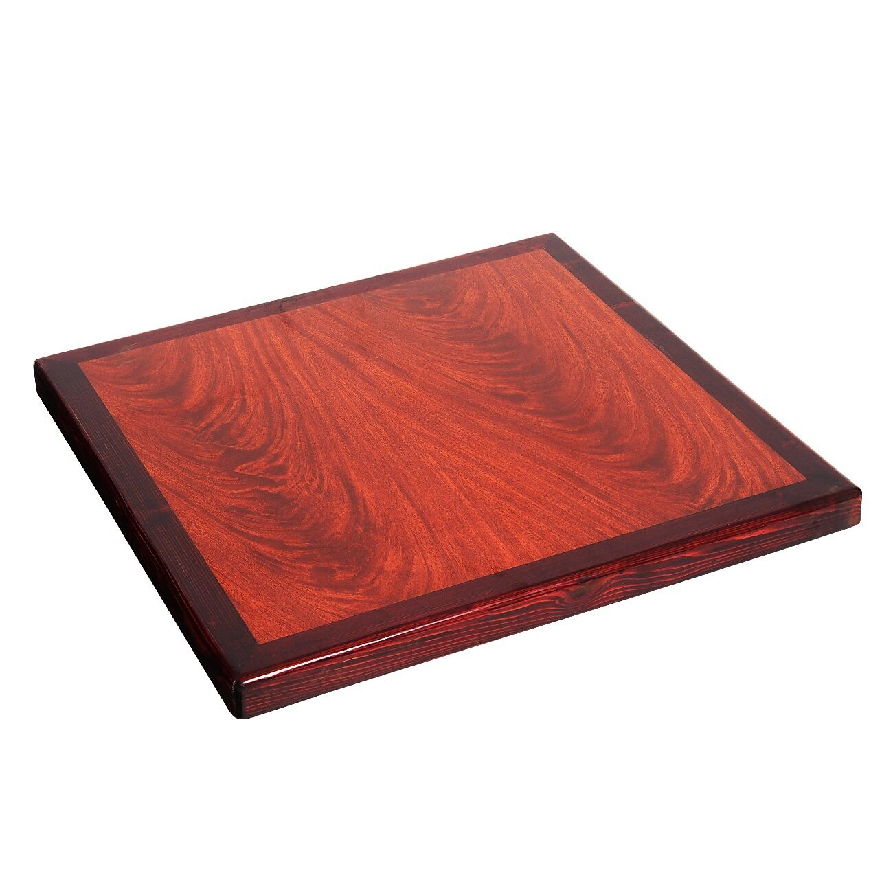 Lot Of Square Restaurant Resin Table Tops Wood Edge Cherry - Restaurant resin table tops