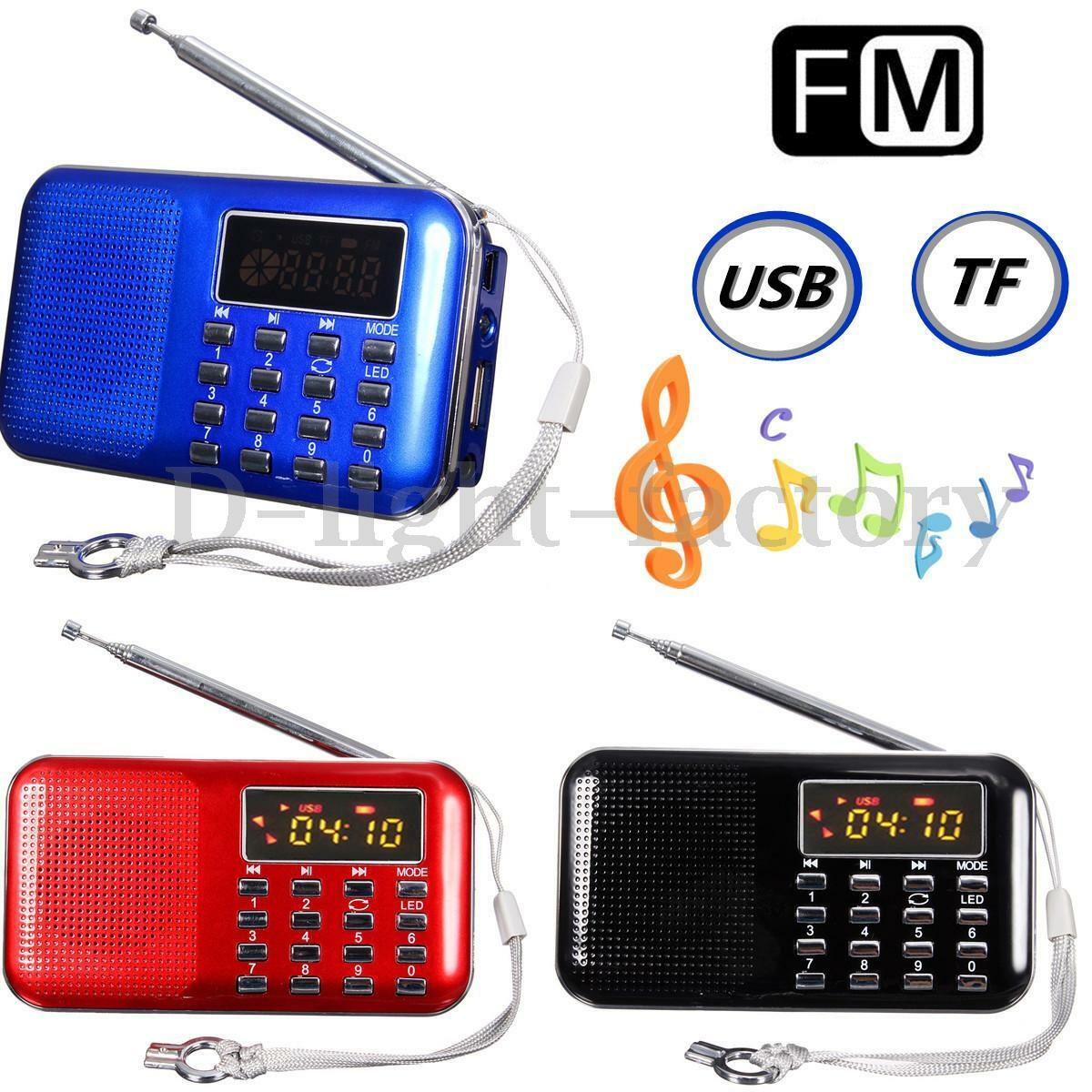 mini portable led digital fm radio speaker usb micro sd tf aux mp3 music player. Black Bedroom Furniture Sets. Home Design Ideas
