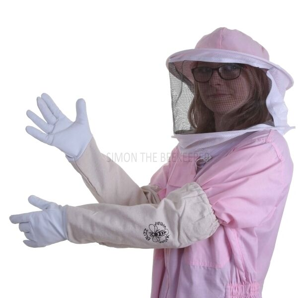 Buzz Basic Beekeeping Suit With Round Veil And Gloves - Pink