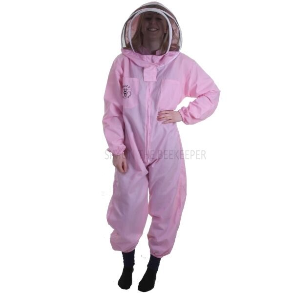 Buzz Basic Beekeeping Suit With Fencing Veil - Pink