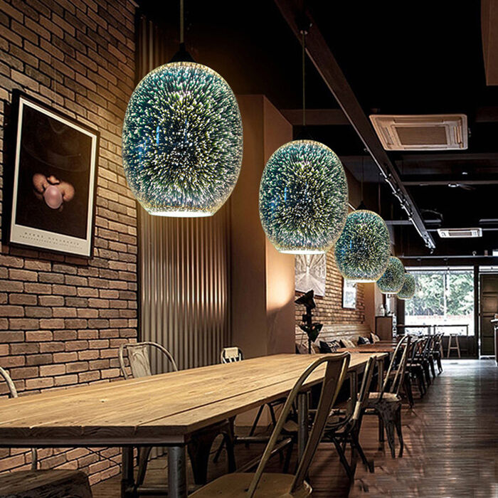 Creativity 3D Modern Ceiling Lamp Light Chandelier Glass