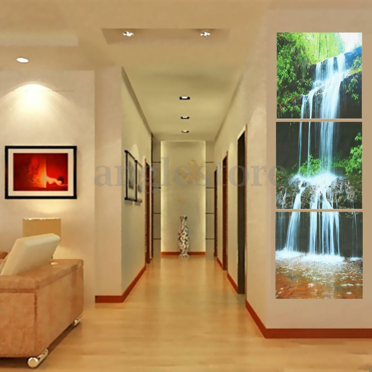 ABSTRACT UNFRAMED CANVAS Print Home HD Waterfall Print Art Picture ...