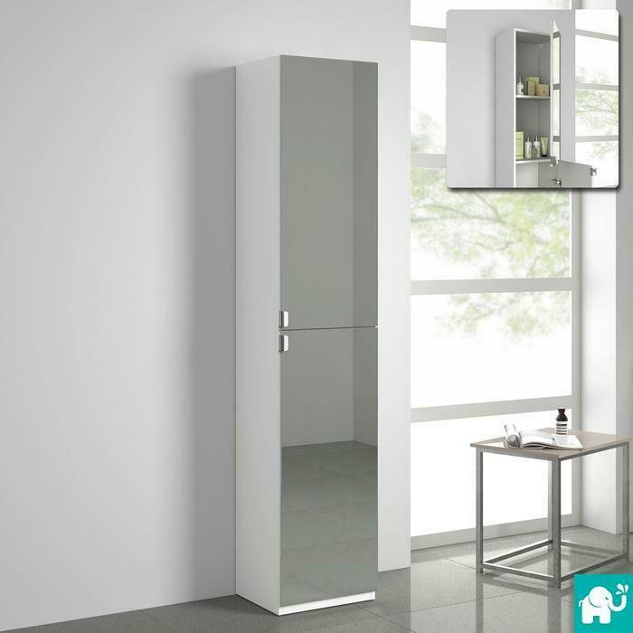 Modern tall bathroom mirror furniture storage cabinet for Cupboard cabinet