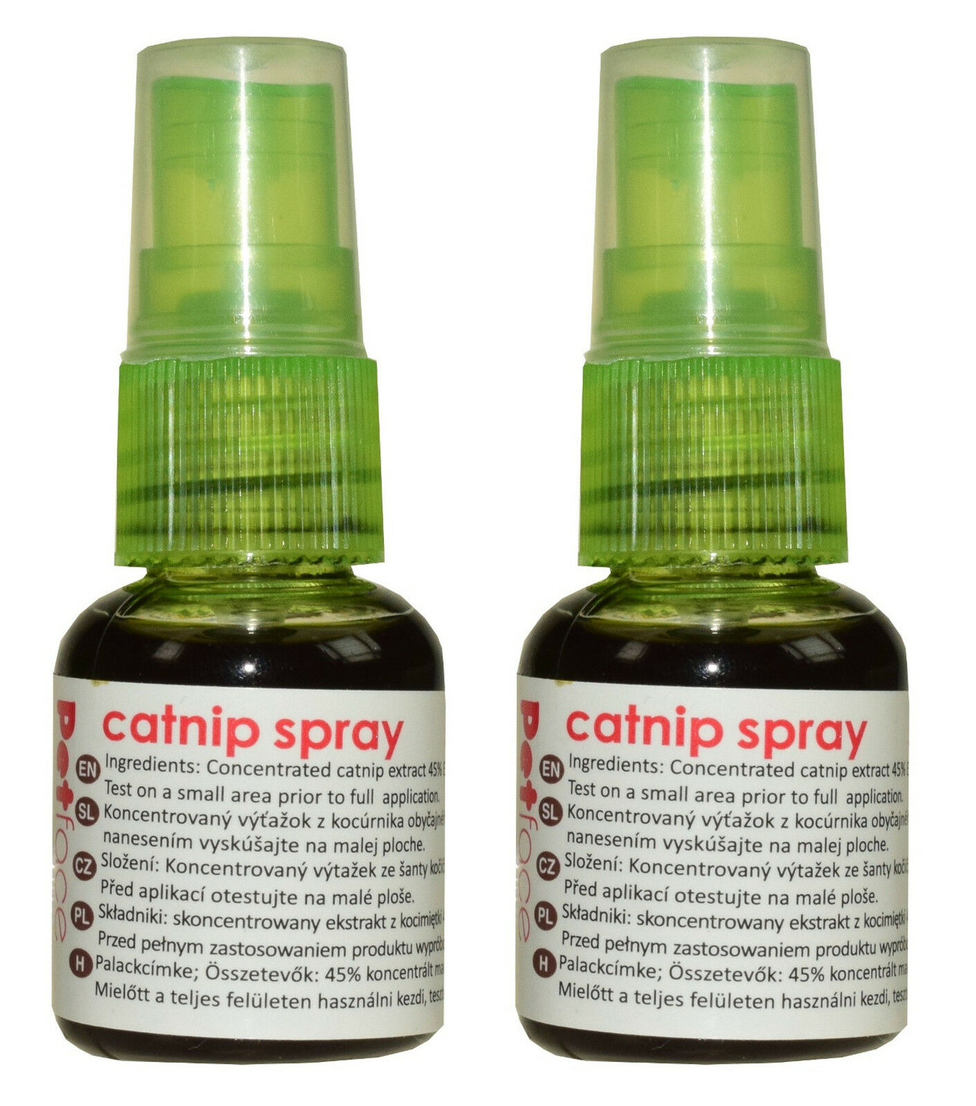 Cat Kitten Concentrated Catnip Spray 2 x 30ml Bottle No Mess for Scratchers Toys