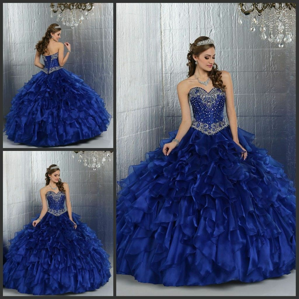 ROYAL BLUE QUINCEANERA Dress Ball Gown Sweet 15 Prom Dress Formal ...