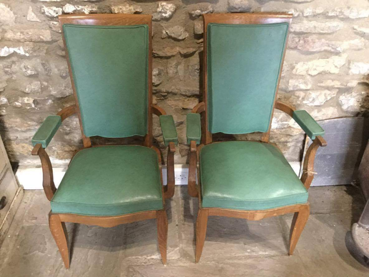 Pair of Vintage Art Deco Armchairs    #287