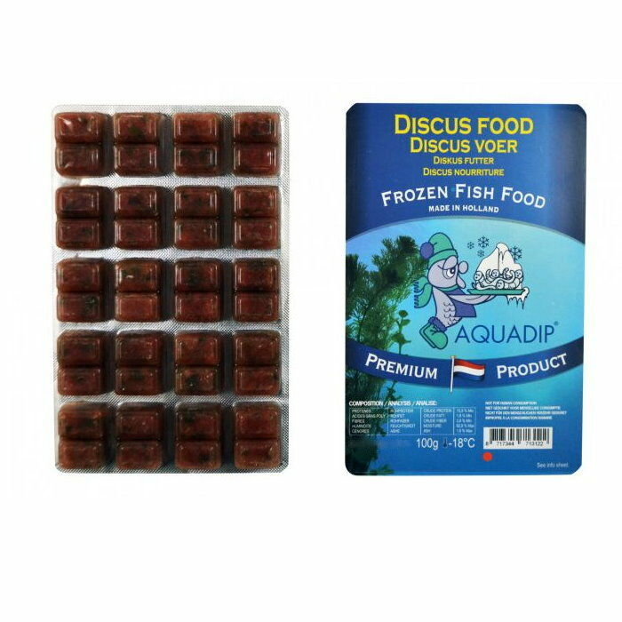 18 x Discus Food 100 gram Blister Packs - Premium Frozen Fish Food