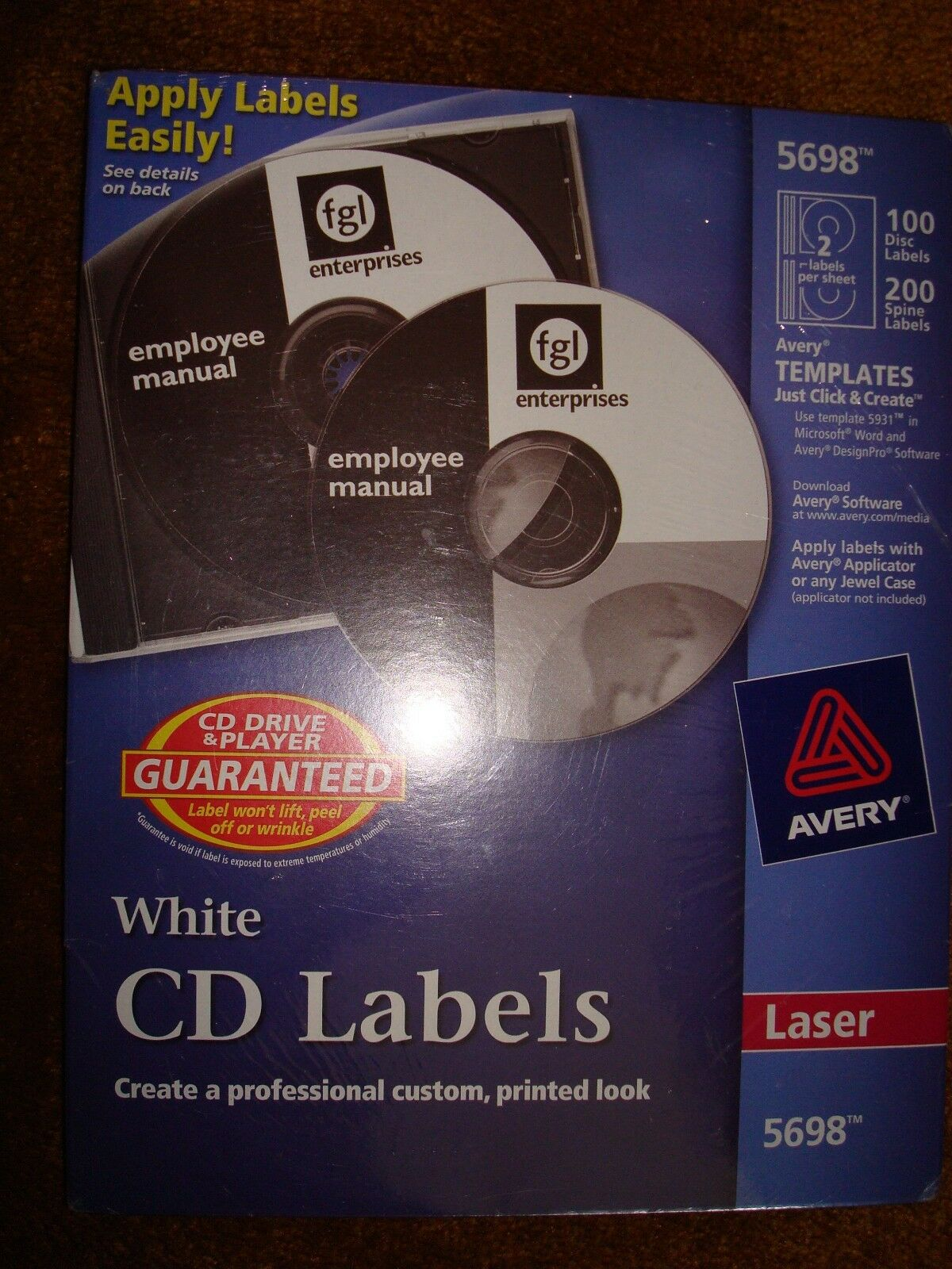 avery cd labels white 5698 25 00 picclick
